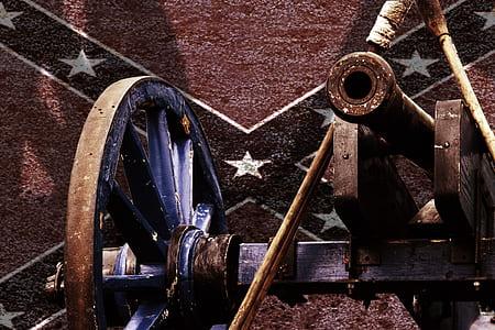 Confederate flag and artillery wallpaper