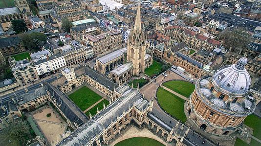 high angle photography of church
