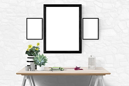 mockup, interior, template, modern, space, 3d