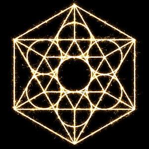 six edges symbol illustration