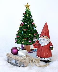 Santa Claus with Christmas tree figure
