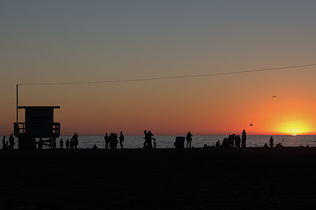 Silhouette Beach Sunset
