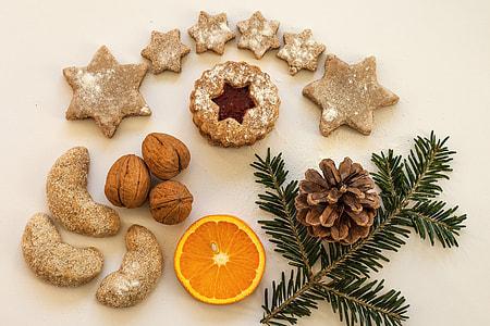 Overhead shot of Christmas cookies