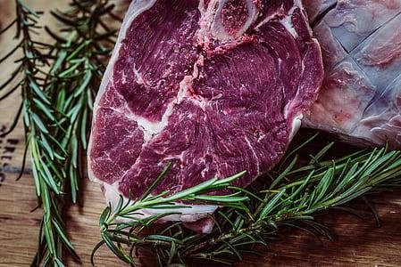 closeup photo of raw meat