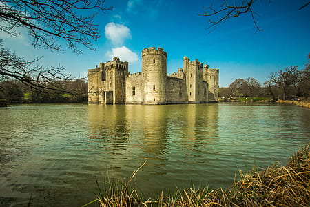 castle in the body of water