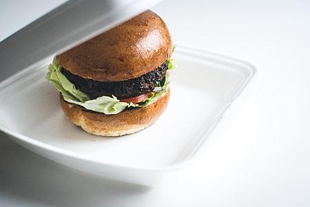 Beef burger takeaway