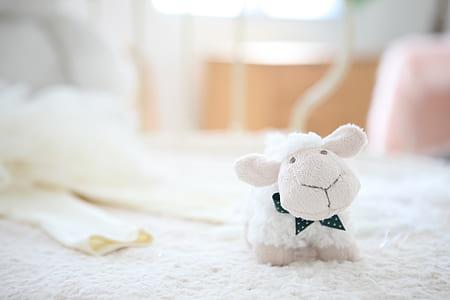 white sheep plush toy