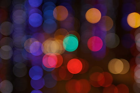 photo of red, green, and blue bokeh lights