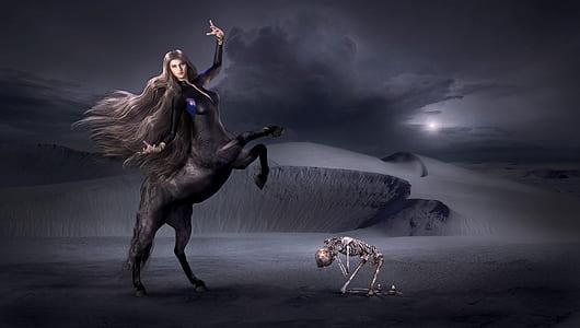 centaur on desert illustration