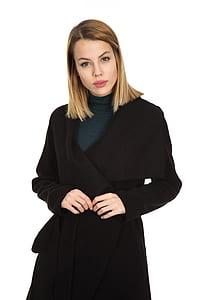 woman wearing black robe