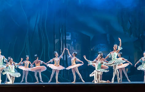 group of ballerina on stage