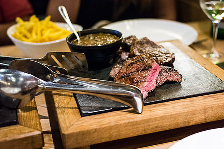 Juicy medium steak
