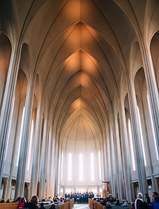 architectural photo of inside of a church