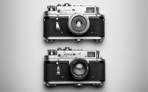 two grey MILC cameras