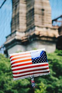 US flag print printed on balloon
