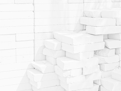 pile of white bricks