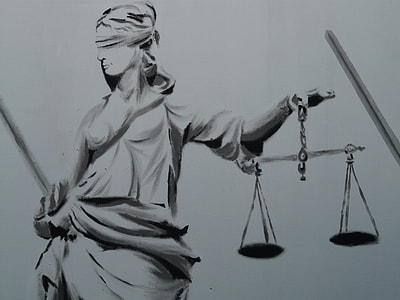 sketch of lady justice