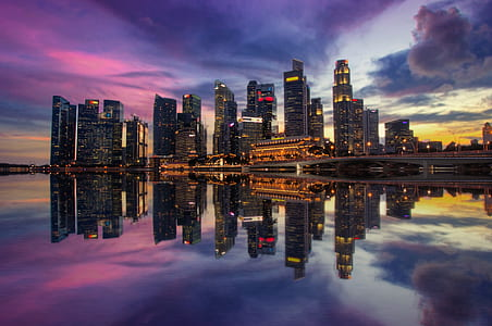 panoramic photography of city high-rise buildings