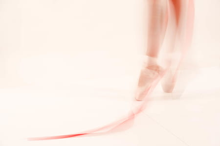 ballet, long exposure, leg, on toes, dance