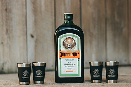 black liquor bottle