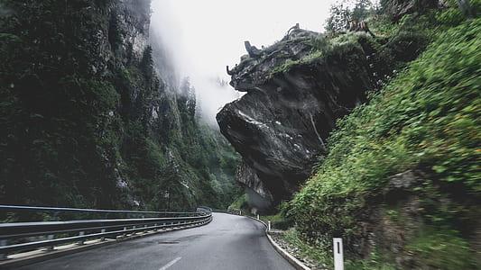 grey road under sun