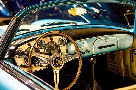 vintage gray car