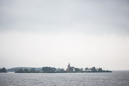 Abandoned Church in the Middle of Reservoir