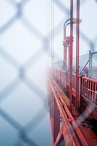 red steel bridge