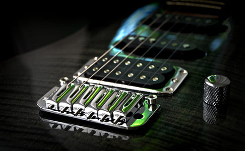 closed up photography electric guitar