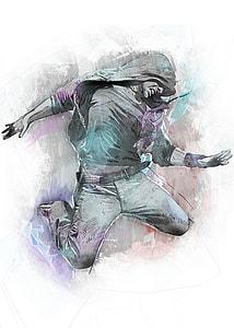 illustration of man wearing jacket