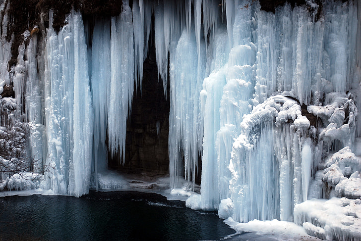 white snow cave