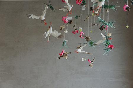 white storks wind chime