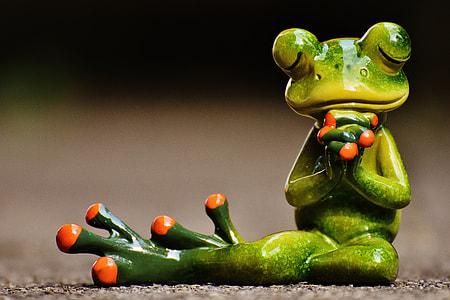 red-eyed tree frog figurine