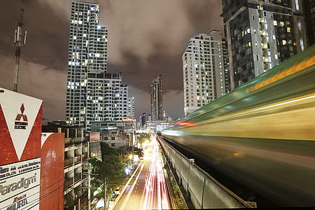 time lapse photography of city lights