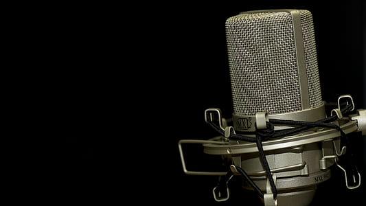 gray condenser microphone landscape photo
