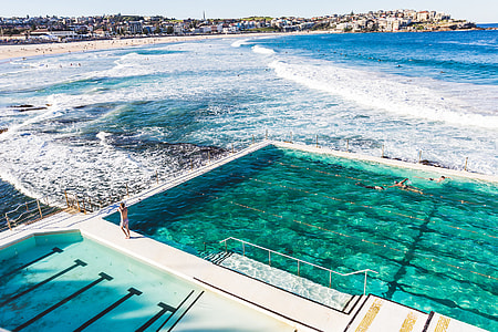 swimming pool near to beach
