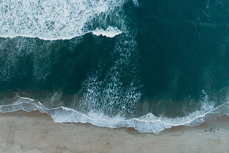 aerial photography of the sea
