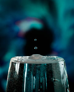 Tilt Shift Lens Photography of Water in a Glass