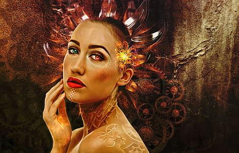 painting of woman portrait
