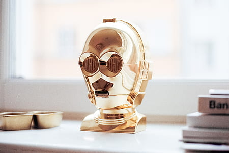 Star Wars C3PO bust on white surface