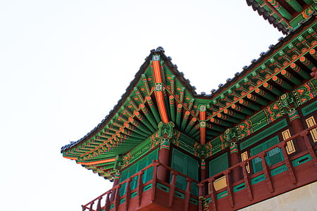 photo of green and red temple