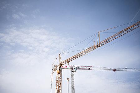 Big Lifting Cranes at Construction Site