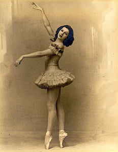 sepia photo of ballerina