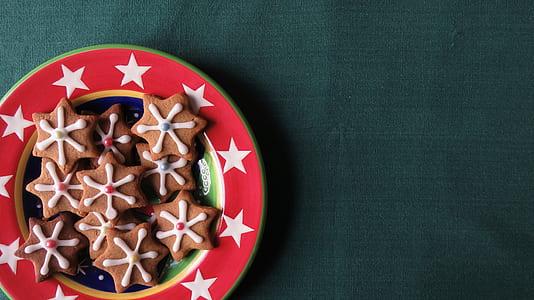 bowl of star cookies