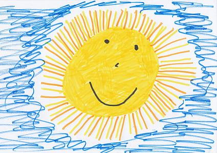 yellow sun illustration