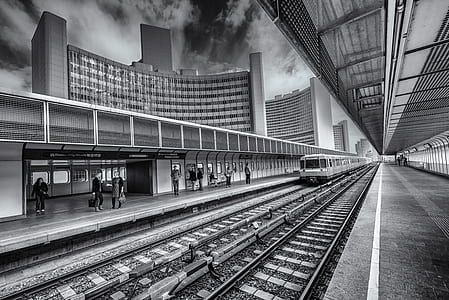 Railroad Station in City