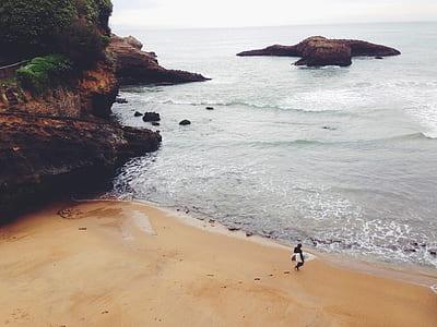 person on sea shore