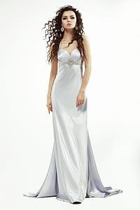 dress, long, woman, clothing, night, fashion