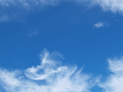 White and Blue Cloudy Sky