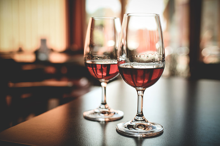 Two Glasses with Alcohol Drink